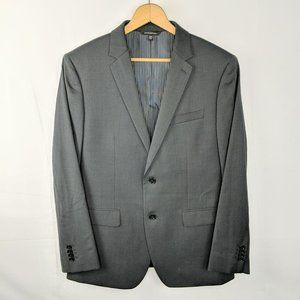 Marzotto BR Gray Wool Slim Fit Blazer